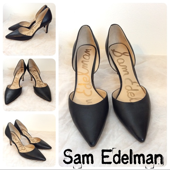 71dec20b7 Sam Edelman Shoes - Sam Edelman Telsa Black Leather Heels